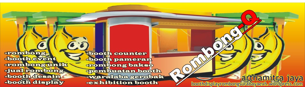 booth display-rombong surabaya-exhibition booth-rombong unik